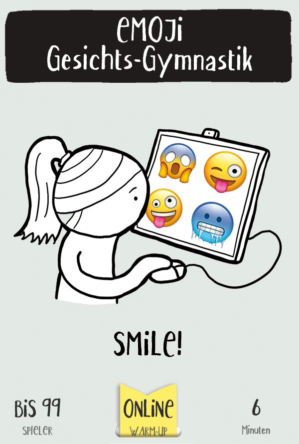 Dieses Warm Up Spiel funktioniert mit Emojis
